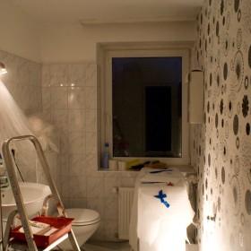 Bad während der Sanierung