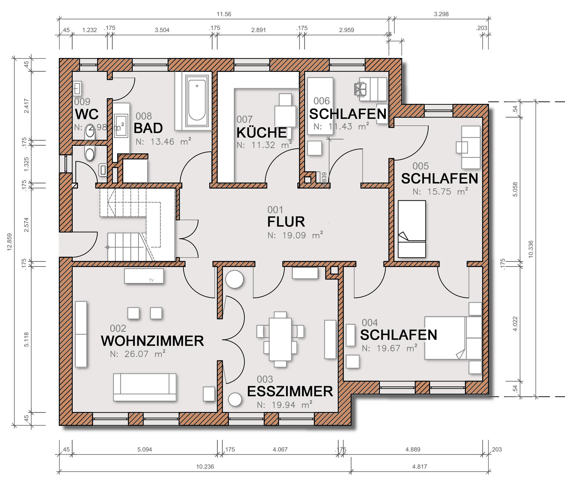 grundriss bema ung dipl ing gustavo oettinger. Black Bedroom Furniture Sets. Home Design Ideas